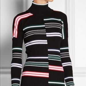 KENZO STRIPED RIBBED TURTLENECK MULTICOLOR SWEATER